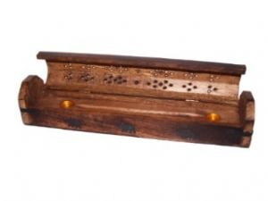 Incense Box-Carved & Inlaid Wooden~ISH-39